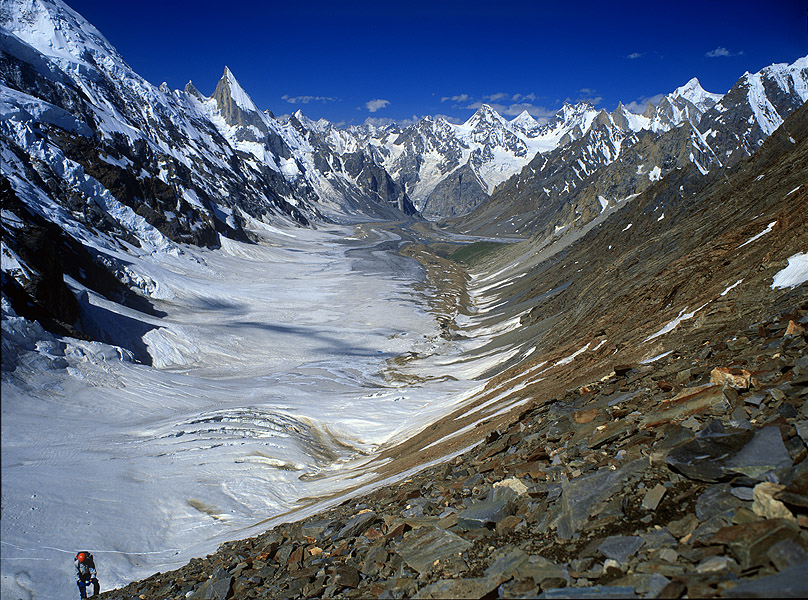 From the ascent to the Gondoro LaPakistan Karakoram