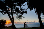 This silouette of the couple captures the gorgeous sunsets that provide the view at La Venta in Palos Verdes.