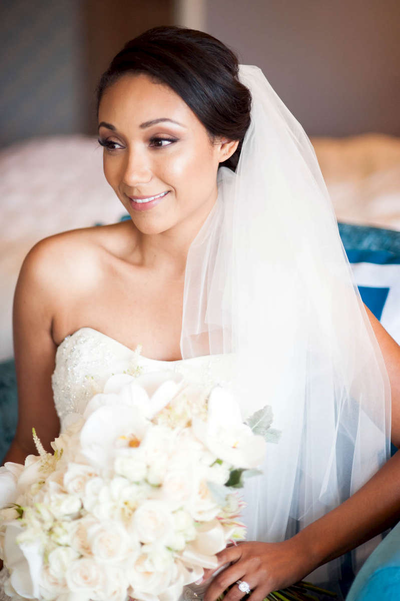 A quiet moment with this gorgeous bride just minutes before the ceremony