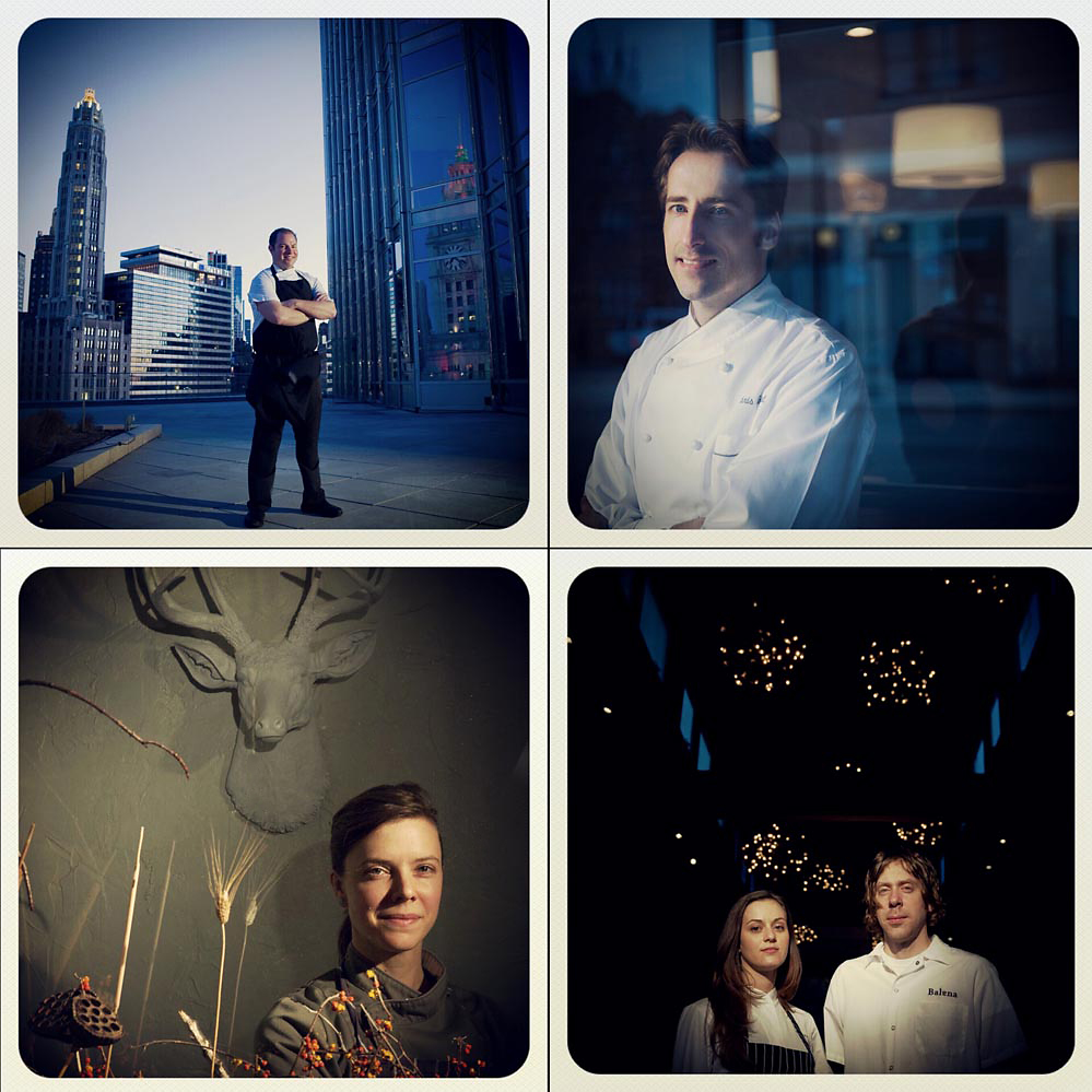 Instagram portraits of top chefs in Chicago.