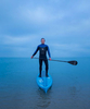 Michael Westenberger, an expert stand-up paddle boarder, on Lake Michigan, Monday, December 9, 2013.   (Alex Garcia/Chicago Tribune)  B583375242Z.1 ǃ∂.OUTSIDE TRIBUNE CO.- NO MAGS,  NO SALES, NO INTERNET, NO TV, CHICAGO OUT, NO DIGITAL MANIPULATION...