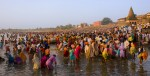 Over one million Indians from the state of Maharastra flock to the Pandurpur at the culmination of a pilgrimage from across the state to mark the pilgrimage that Saint Dynashewar made to Pandurpur around 1200 ad. The ceremoney of Ashadh Ekadashi, which is marked by the lunar calendar, usually falls in the height of the monsoon season, after farmers have sown their  seeds, and are waiting for weeding.The holy ceremony falls on  the 14 July, 2008.
