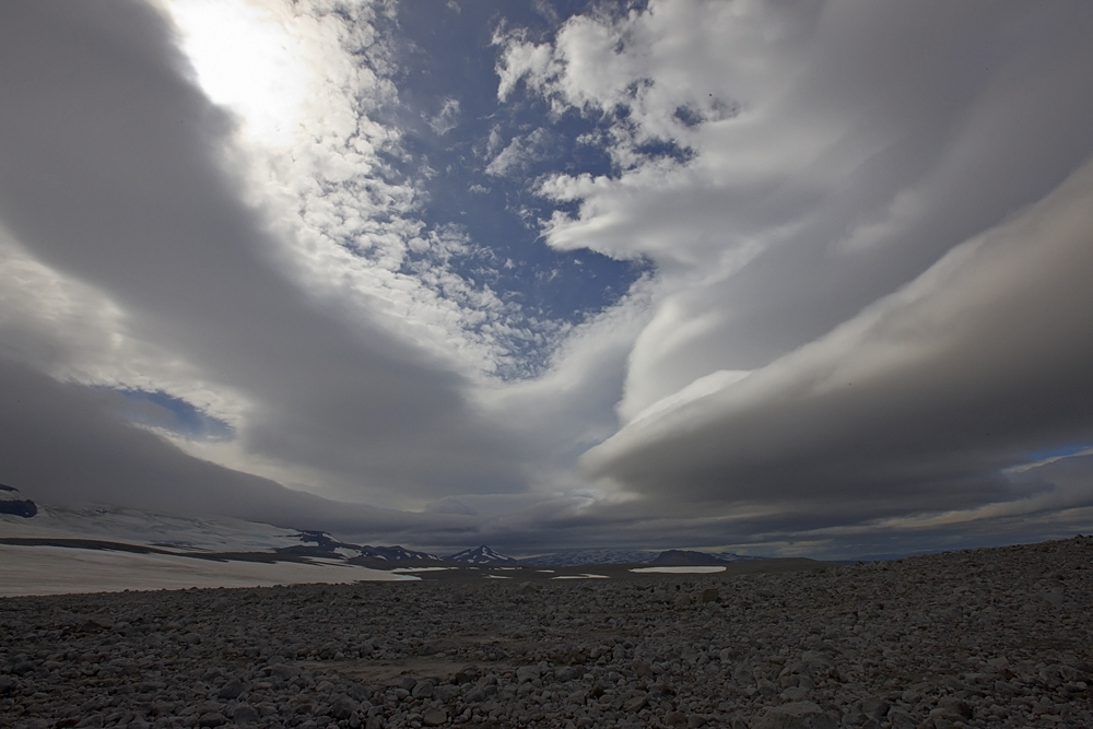 Strange Sky at the Glacier