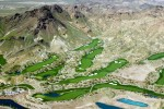 Boulder City, NVGolf courses in the Las Vegas metropolitan area account for 5 percent of the region's water usage. Pictured is a section of the 71-hole Cascata Golf Course, which has managed to conserve 60 million gallons of water per year by increasing the aeration of the turf areas and replacing rye with Bermuda grass (which requires less water) in some turf areas.Digital Capture, Ref #: 050309-0288