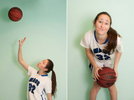 Portrait of basketball player Stephanie Greenberg. By photographer Adena Stevens