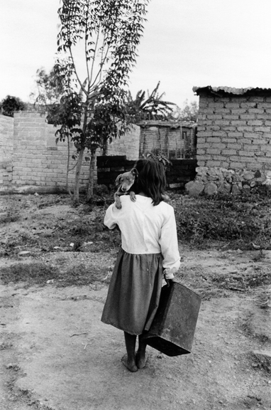 Maria Holding Her Pup Doing Chores, Zitakua, Tepic