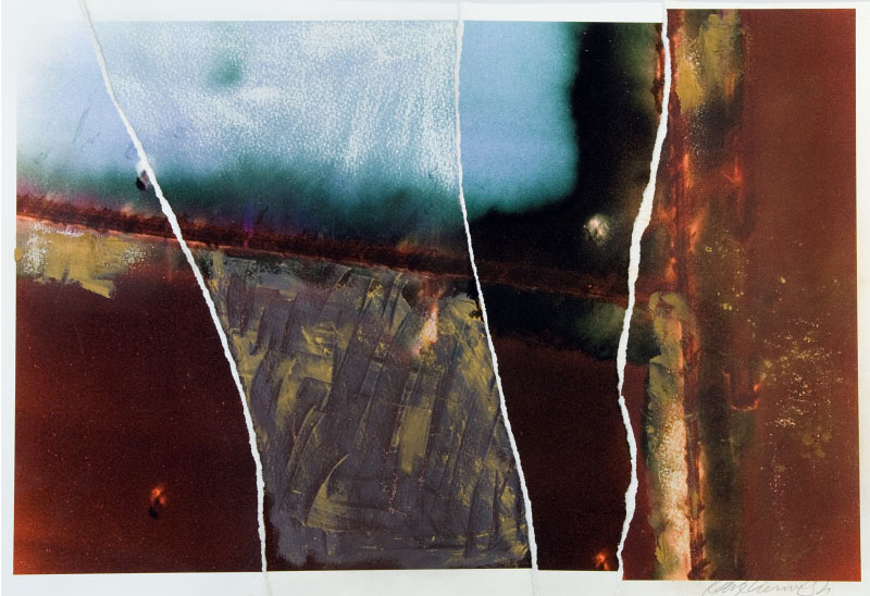 Torn digital print, wax & irridescentpowders, from the series {quote}Against Perfection.{quote}