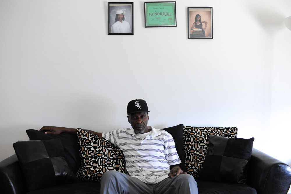 Stanley Wrice sits in the living room of the home he shares with his daughter and son-in-law in Calumet City, Illinois on November 4, 2015.  Wrice spent 31 years in jail for a crime he did not commit after a confession was extracted from him in 1982 by Chicago Police Area Two detectives who beat him using a rubber pipe with duct tape on both ends.