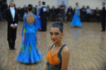 BAKU, AZERBAIJAN.  A young dancer participates in Azerbaijan's Ballroom Dancing National Finals at a wedding palace in the Surakhani District on November 27, 2011.