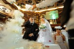 BAKU, AZERBAIJAN.  Fuad Gasimov, an engineer in the Gas Export Department of the Sangachal Terminal where offshore Azeri oil and gas are pumped into the Baku-Tblisi-Ceyhan and Baku-Tblisi-Sepsa pipelines, and his wife Inji Mamedova just after signing their marriage contract at a wedding palace on July 9, 2010.