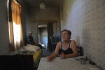 ALAKHI SANGORI, GEORGIA.  Mariam Aptsiauri and her husband Anzori Aptsiauri in their home on August 1, 2010.  While the Aptsiauris have received nothing yet in compensation for having the Baku-Tbilisi-Ceyhan oil pipeline traverse their farmlands, destroying the possibility for continued agricultural production there because of damage to the topsoil and live in poverty, their neighbor Gia Obgaidze is likely the largest recipient of compensation funds in Georgia, which he used to start a chicken farm in addition to remodeling his home; according to an attorney who formerly handled compensation issues with the Young Lawyers Association, Obgaidze likely received 187,000 Georgian lari or approximately $100,000.