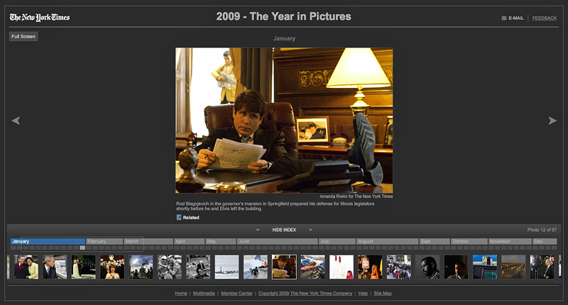 THE NEW YORK TIMES (USA)January: Rod Blagojevich in the governor's mansion in Springfield prepared his defense for Illinois legislators shortly before he an Elvis left the building. 12/87  (Credit: Amanda Rivkin for The New York Times){quote}2009 - The Year in Pictures,{quote}December 23, 2009.