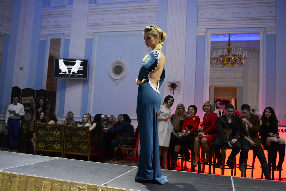 ODESSA, UKRAINE.  A collection by local designer Valkiria is presented during an invitation-only evening of fashion shows and performances at the Ministerium night club on February 6, 2016.