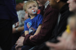 ROTHSCHILD, WISCONSIN. A very young supporter of Donald Trump at his campaign event at the Central Wisconsin Convention and Expo Center on April 2, 2016.