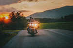 Horseback riding and motorcycle riding in the blue ridge mountains of virginia