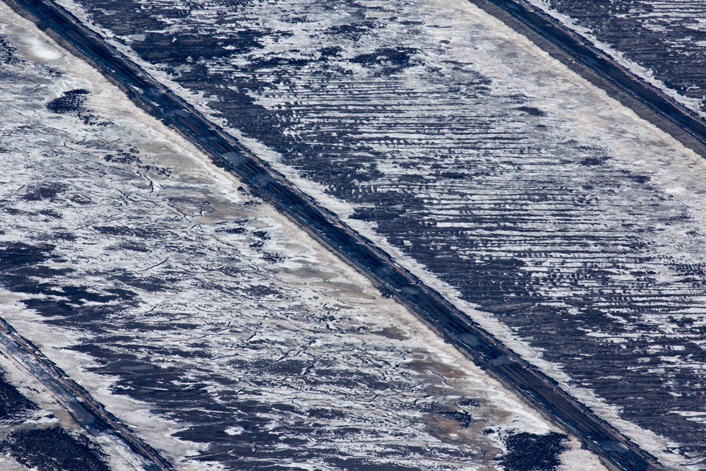Ice and Snow Cover Mine Beds at Suncor Mining Site, Alberta, Canada 2014File Ref. #140407-0595