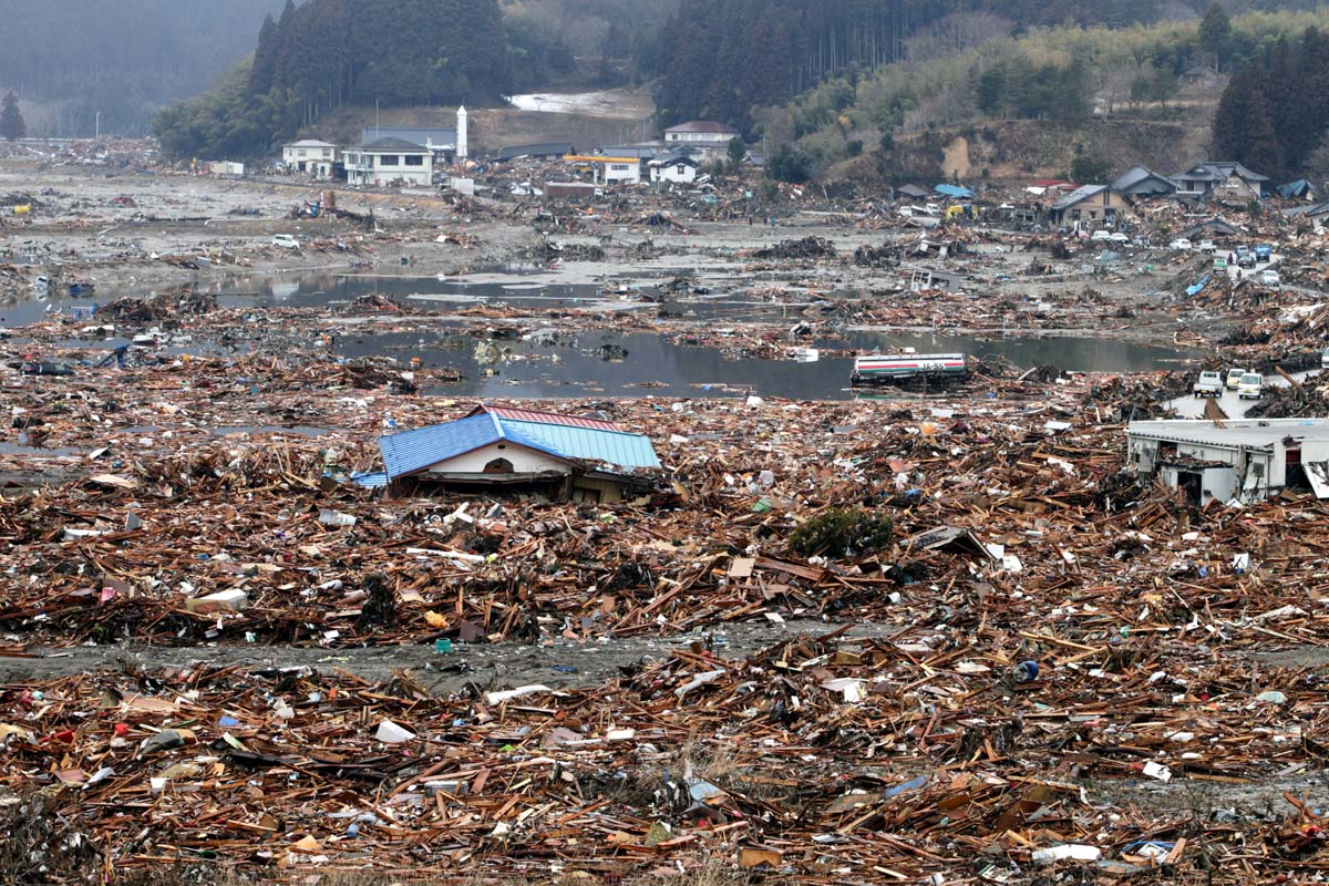 Tsunami Destruction The destruction in the city of