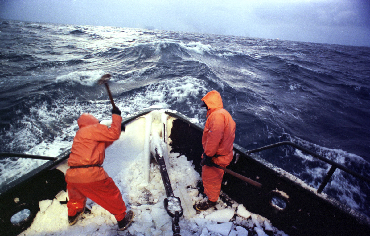 Bering sea crab ducey betaing ice bow seattle for Deckhand fishing jobs