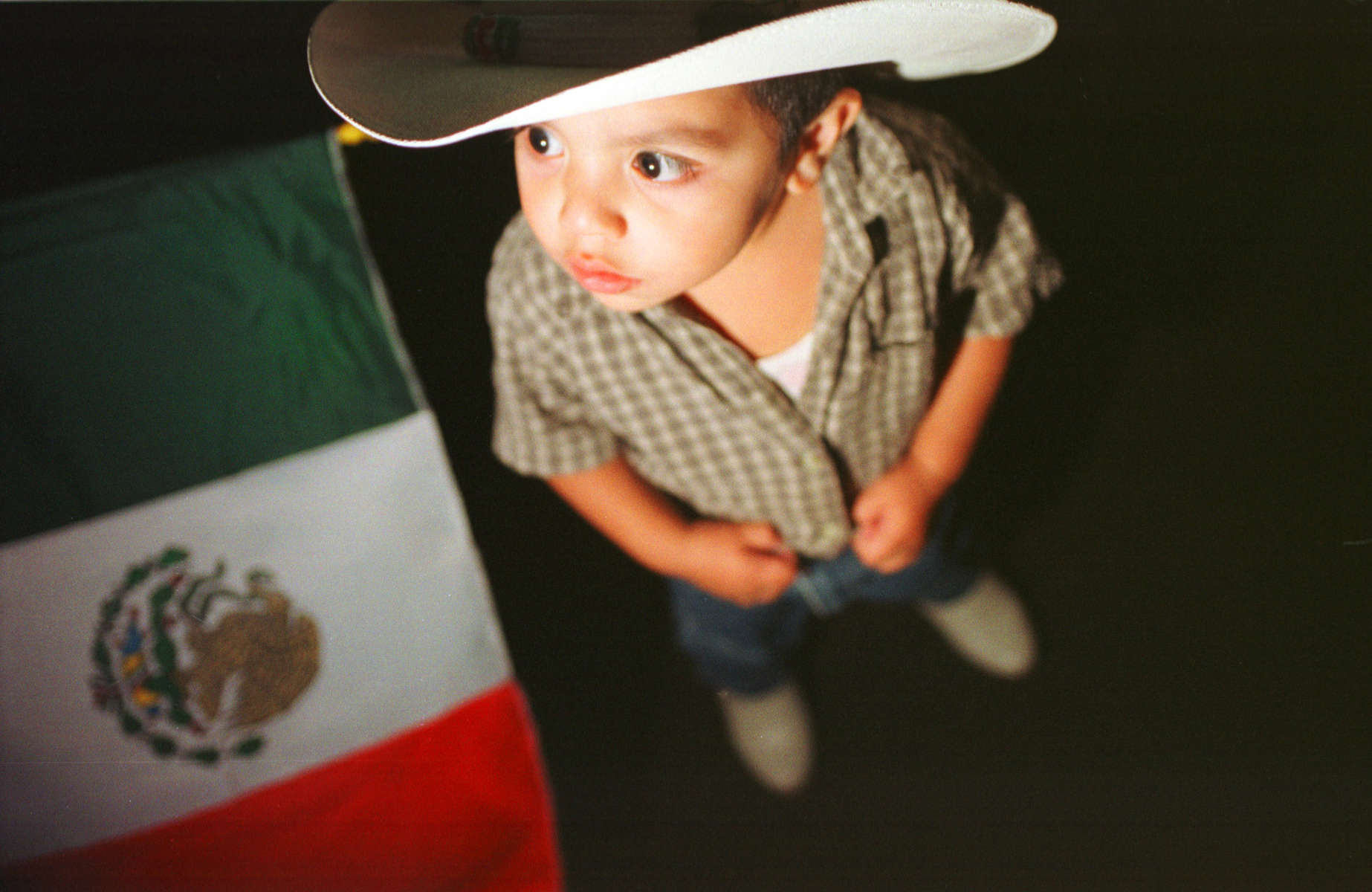 Junior Renteria, one years old, celebrates Mexican Independence Day with his family at St. Patricks Church in Indianapolis, IN.