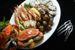 A seafood and shellfish platter made up at Oceanaire in Seattle,WA