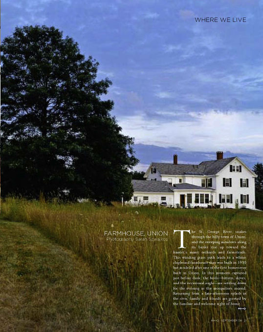 Maine Home + Design September 2009 Where We Live: Farmhouse, Union
