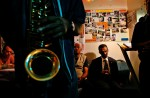 Saxophonist David Lee Jones creates a bluesy backdrop in the American Legion Post's basement bar, where the doorman keeps a sharp eye on the action and guests must sign a register before sitting down.