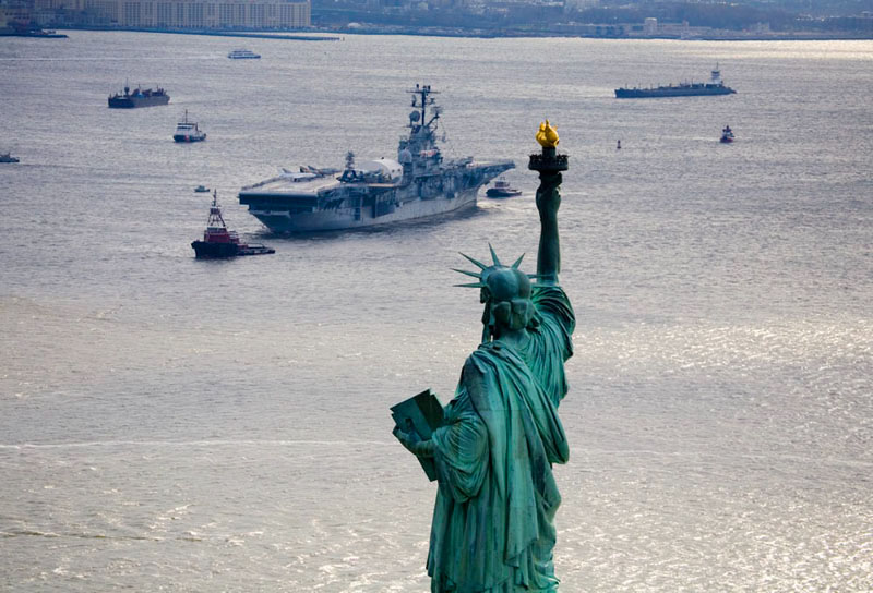 The Intrepid and Lady Liberty