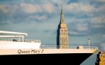 Two icons: QM2 & Empire State Building