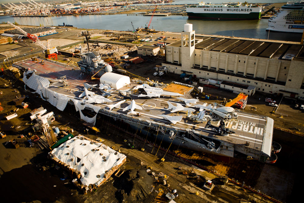 Intrepid in dry dock