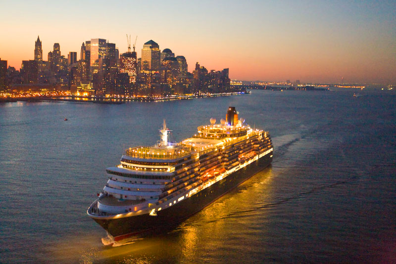 Queen Victoria: The only aerials of Cunard's newest, NY debut.