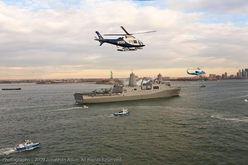 NYPD Aviation Escorts USS New York.