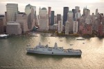 USS NY SALUTES WTC AT NORTH COVE