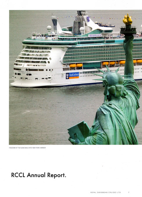 Freedom of the Seas and Statue of Liberty.