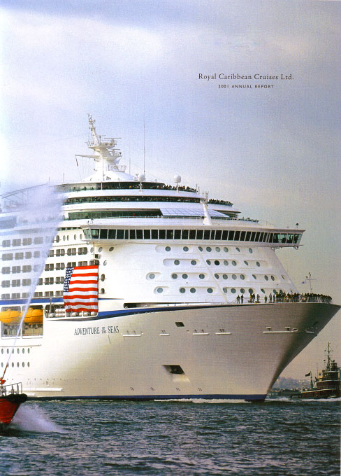 Adventure of the Seas arrives NY Harbor. First major cruise vessel to arrive post {quote}911.{quote}