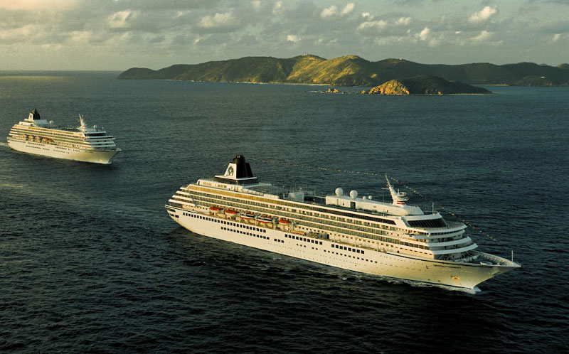 Crystal Symphony & Harmony arrive in British Virgin Islands.