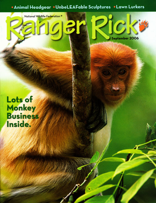 -- Tim wrote and photographed this cover story on Borneo's Proboscis Monkeys for Ranger Rick Magazine.