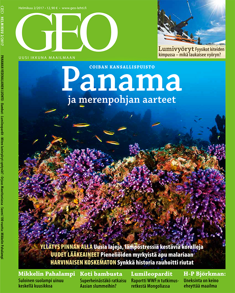 --  Tim's underwater picture from Coiba was featured on the cover.