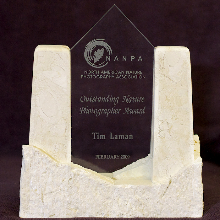 Tim received the North American Nature Photography Association's Outstanding Nature Photographer Award for 2009.
