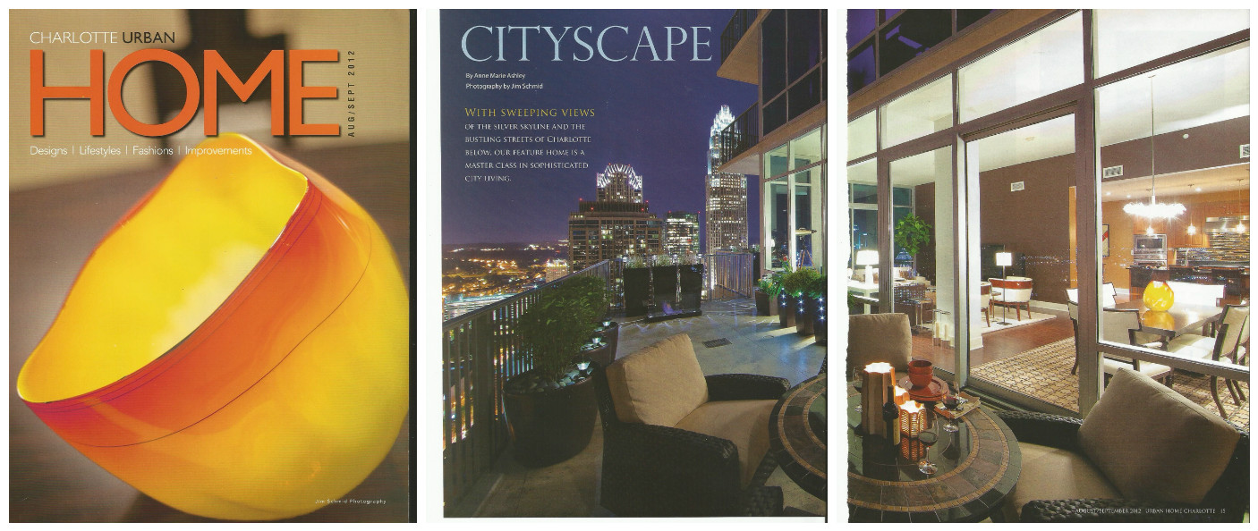 Our Metropolitan rooftop garden is a key element in this feature article published by Urban Home Charlotte magazine for their Aug/Sept 2012 issue.