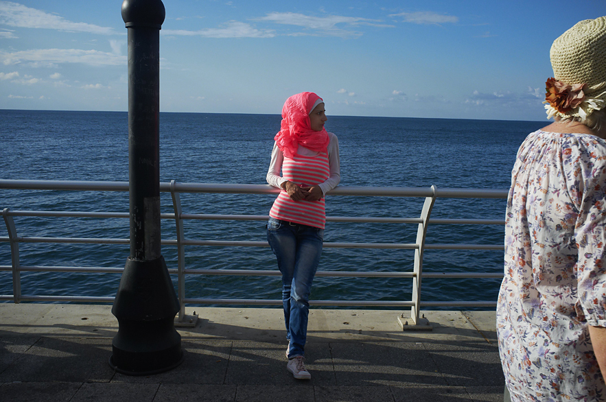 Young lady at the Corniche, Beirut, May 2013