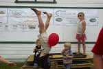 Family of 7 children enjoying themselves at a local county fair in Waconia, Minnesota.