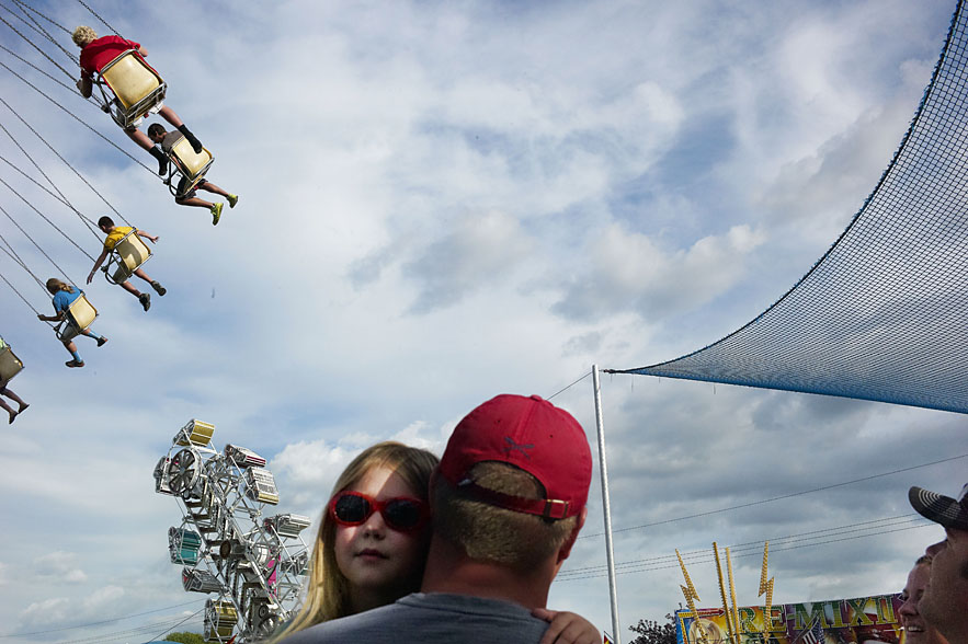 Father and daughter at Owatonna County Fairl