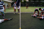 At St Andrew School, players training, 2012