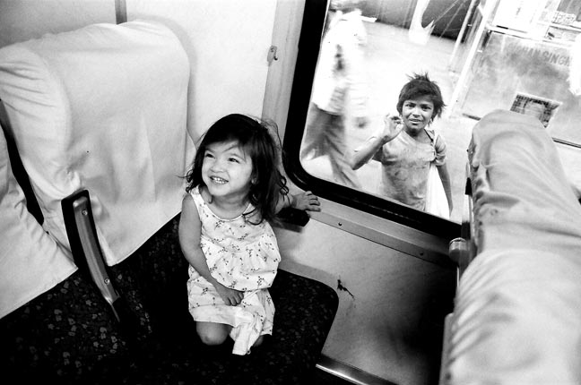 IN a Train, New Delhi, India, 2004