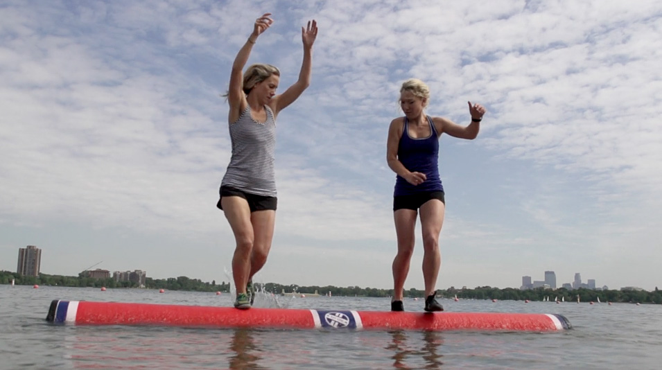 The Hoeschler siblings have been log rolling since shortly after they were able to walk. Will, 23, Abby, 27, and Lizzie, 31, learned the sport from their mother, a seven-time world champion, and refined their craft while practicing in a lagoon along the Mississippi River. Today, Abby and Lizzie often meet in national competitions, and between the two sisters they have five world championships in log rolling and boom running.