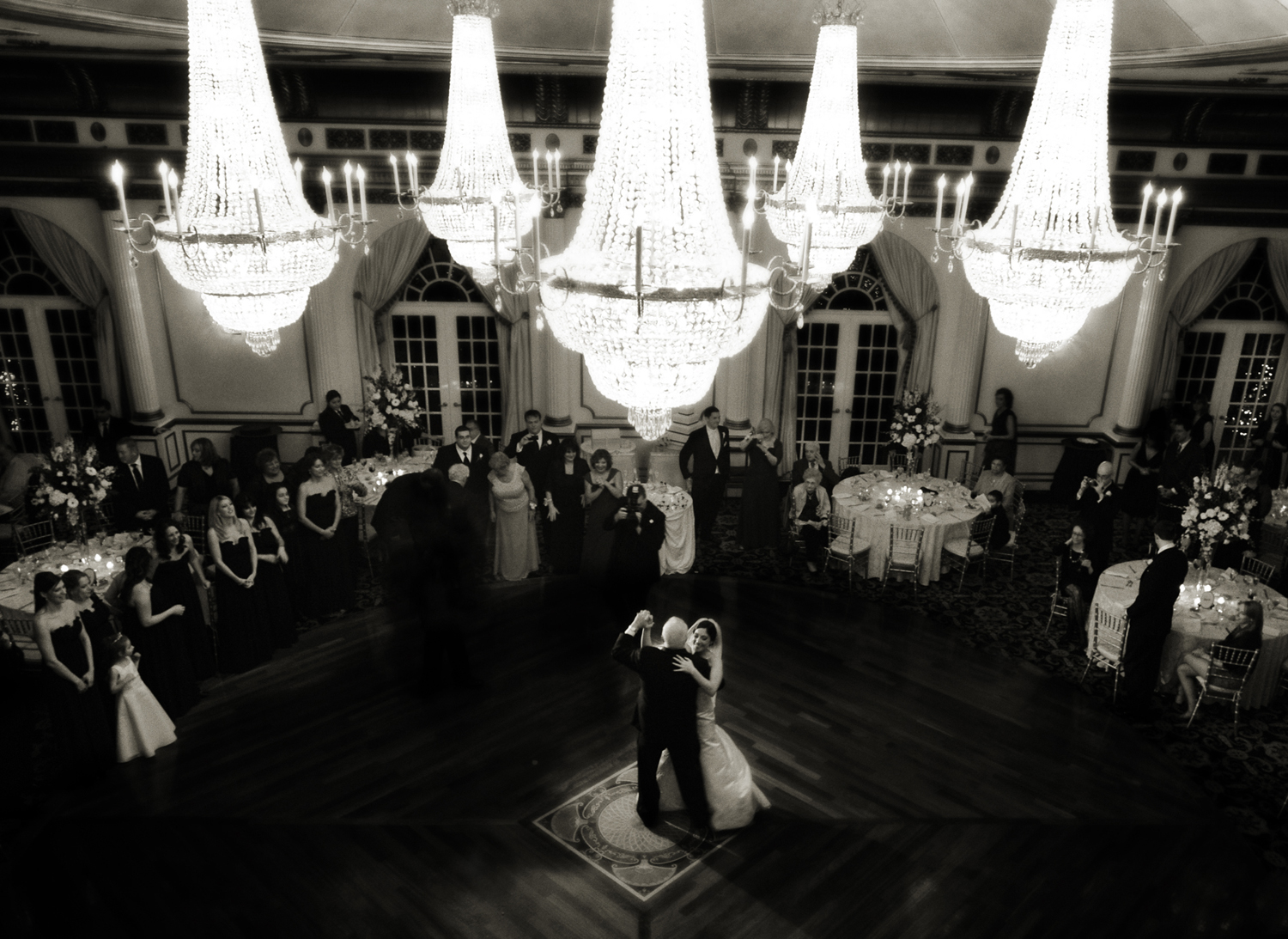 Father daughter first dance at wedding at Crystal Plaza in New Jersey. NJ wedding photographers