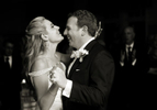 Bride and groom's first dance as married couple at their wedding at Harbor Links. NYC wedding photographers