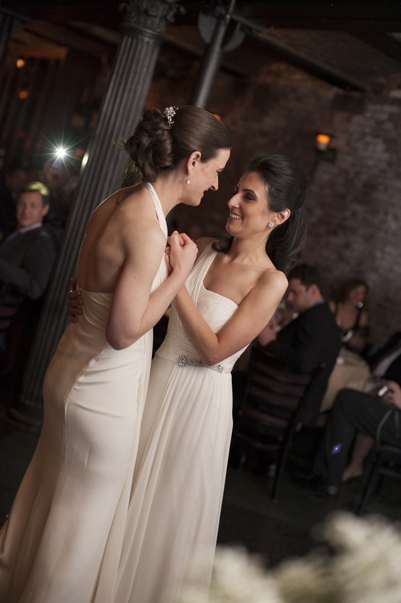 wedding at city hall restaurant. Gay friendly NYC wedding photographers
