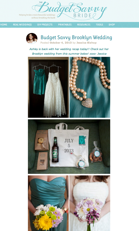 Budget Savvy Bride - October 2013read the full post here