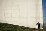 bride and groom portrait in Liberty State Park, Jersey City. NJ wedding photographers